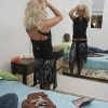 Wicked transvestite in satin outfits & stockings enjoys hard stuffing